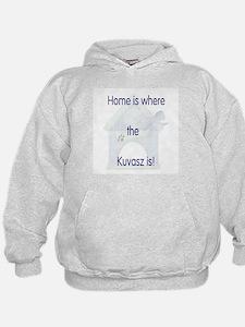 Home is where the Kuvasz is Hoodie