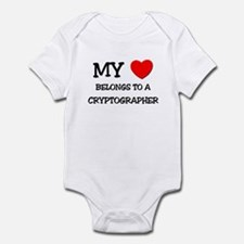 My Heart Belongs To A CRYPTOGRAPHER Infant Bodysui