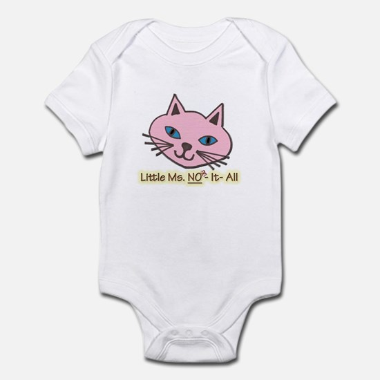 Know No It All Funny Girls Kitty Infant Bodysuit