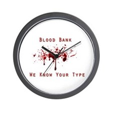 Blood Bank Wall Clock