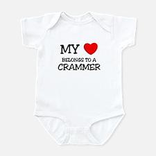 My Heart Belongs To A CRAMMER Infant Bodysuit