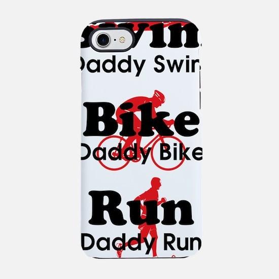 triathlonDaddy---blackred-lg-. iPhone 7 Tough Case