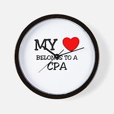 My Heart Belongs To A CPA Wall Clock