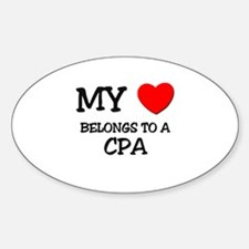 My Heart Belongs To A CPA Oval Decal