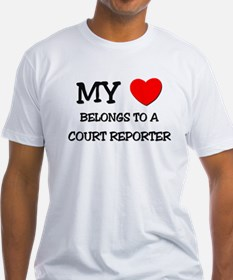 My Heart Belongs To A COURT REPORTER Shirt