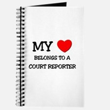 My Heart Belongs To A COURT REPORTER Journal