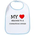My Heart Belongs To A CORRECTIONS OFFICER Bib