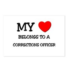 My Heart Belongs To A CORRECTIONS OFFICER Postcard