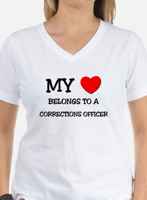 My Heart Belongs To A CORRECTIONS OFFICER Shirt