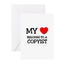 My Heart Belongs To A COPYIST Greeting Cards (Pk o