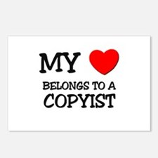 My Heart Belongs To A COPYIST Postcards (Package o