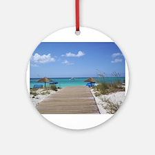 Caribbean boardwalk Ornament (Round)