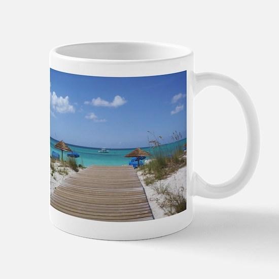 Caribbean boardwalk Mug