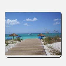 Caribbean boardwalk Mousepad