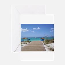 Caribbean boardwalk Greeting Card