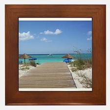 Caribbean boardwalk Framed Tile