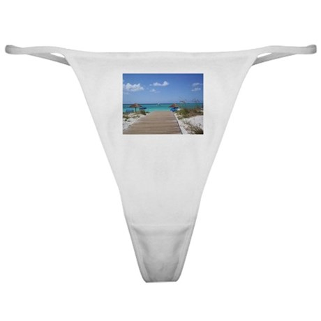 Caribbean boardwalk Classic Thong