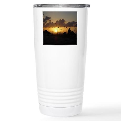Caribbean Sunset Stainless Steel Travel Mug