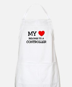 My Heart Belongs To A CONTROLLER BBQ Apron
