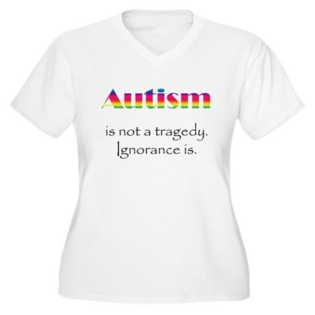 Autism Awareness! Women's Plus Size V-Neck T-Shirt