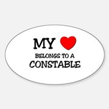 My Heart Belongs To A CONSTABLE Oval Decal