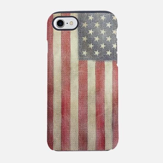 USA Vintage Flag iPhone 7 Tough Case