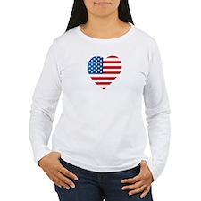 USA Flag Heart: T-Shirt