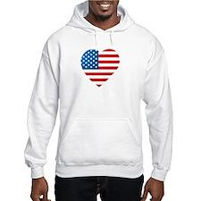 USA Flag Heart: Hoodie