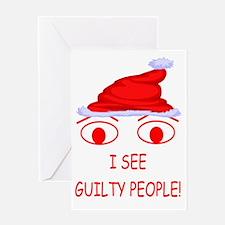 Christmas Cop Greeting Card