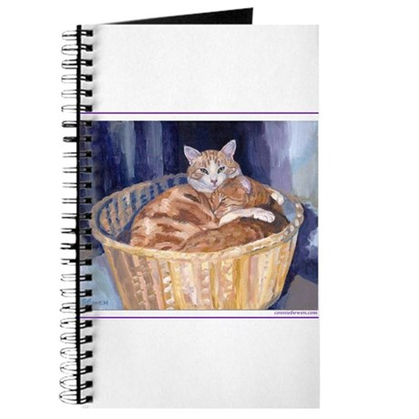 Two cats in a basket Journal