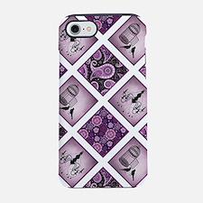 Cute Bird quilt iPhone 7 Tough Case