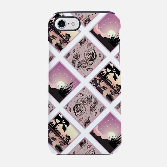 Purple roses iPhone 7 Tough Case