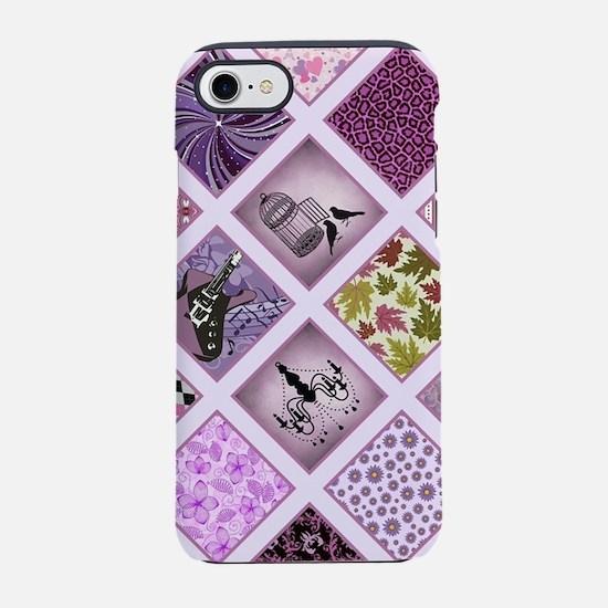 Funny Purple roses iPhone 7 Tough Case