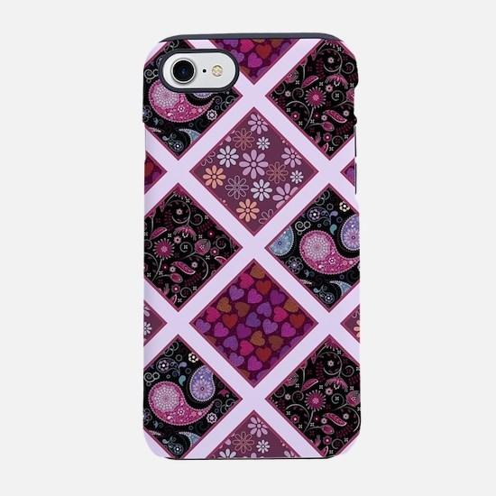 Cool Purple roses iPhone 7 Tough Case