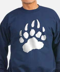 WHITE Bear Paw Sweatshirt (dark)