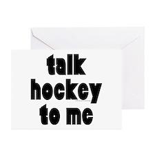 Talk Hockey phat Greeting Cards (Pk of 10)