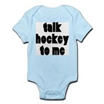 Talk Hockey phat Infant Creeper