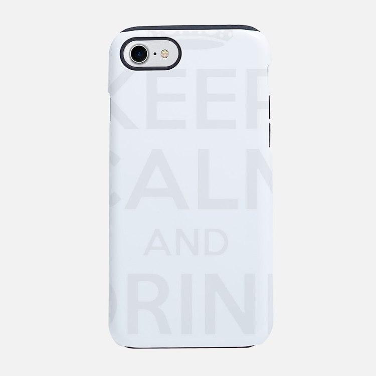 Cute Keep calm drink beer iPhone 7 Tough Case