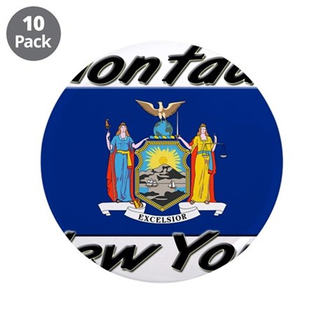"Montauk New York 3.5"" Button (10 pack)"