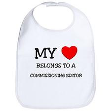 My Heart Belongs To A COMMISSIONING EDITOR Bib