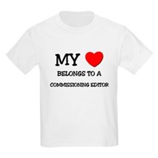 My Heart Belongs To A COMMISSIONING EDITOR T-Shirt
