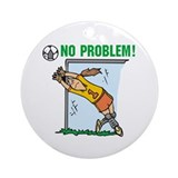 Soccer girl Round Ornaments