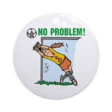 Girl Soccer Goalie Ornament (Round)