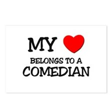 My Heart Belongs To A COMEDIAN Postcards (Package
