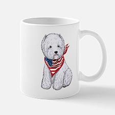 Stars & Stripes Westie Mug