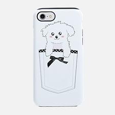 Cute Girl maltese iPhone 7 Tough Case