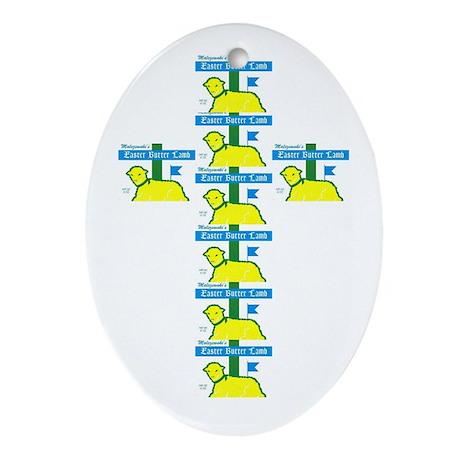 Butter Lamb Oval Ornament