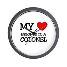 My Heart Belongs To A COLONEL Wall Clock