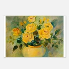 Yellow Roses Postcards (Package of 8)
