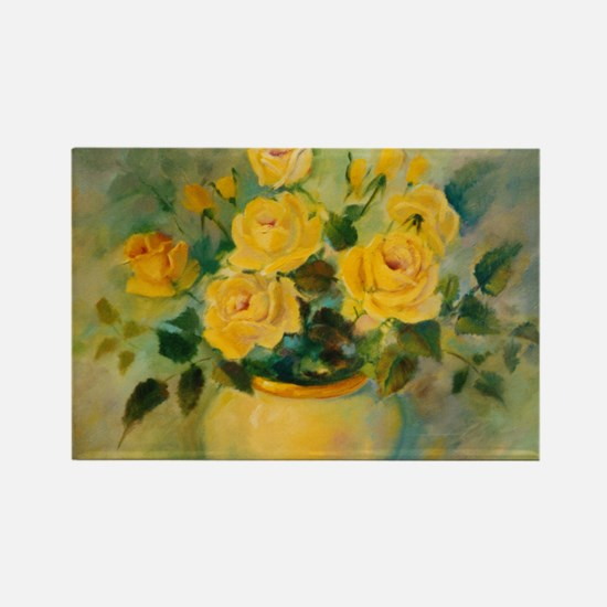 Yellow Roses Rectangle Magnet